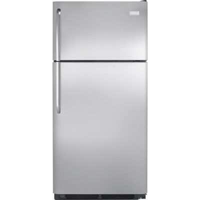 Frigidaire 30-in 18-cu ft Top-Freezer Refrigerator Optional (Sold Separately) (Stainless Steel)
