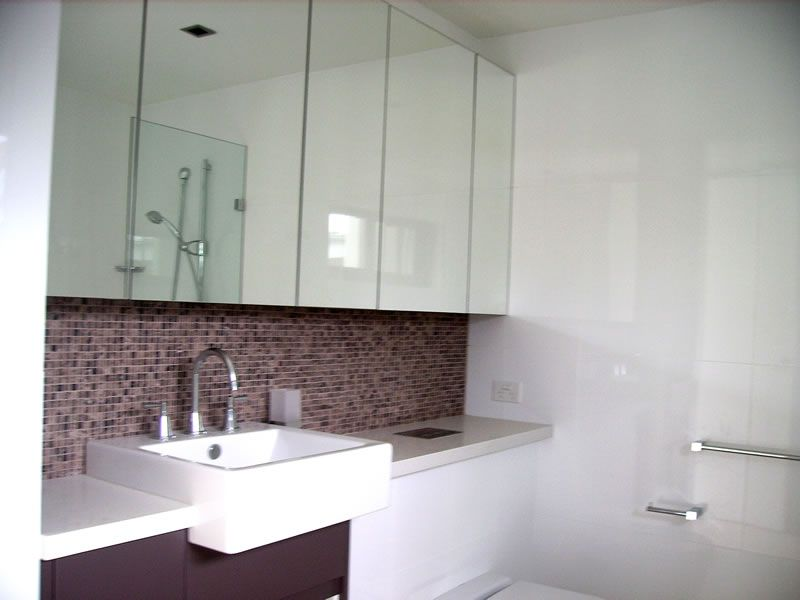Mirror Cabinets Over Sink And Toilet