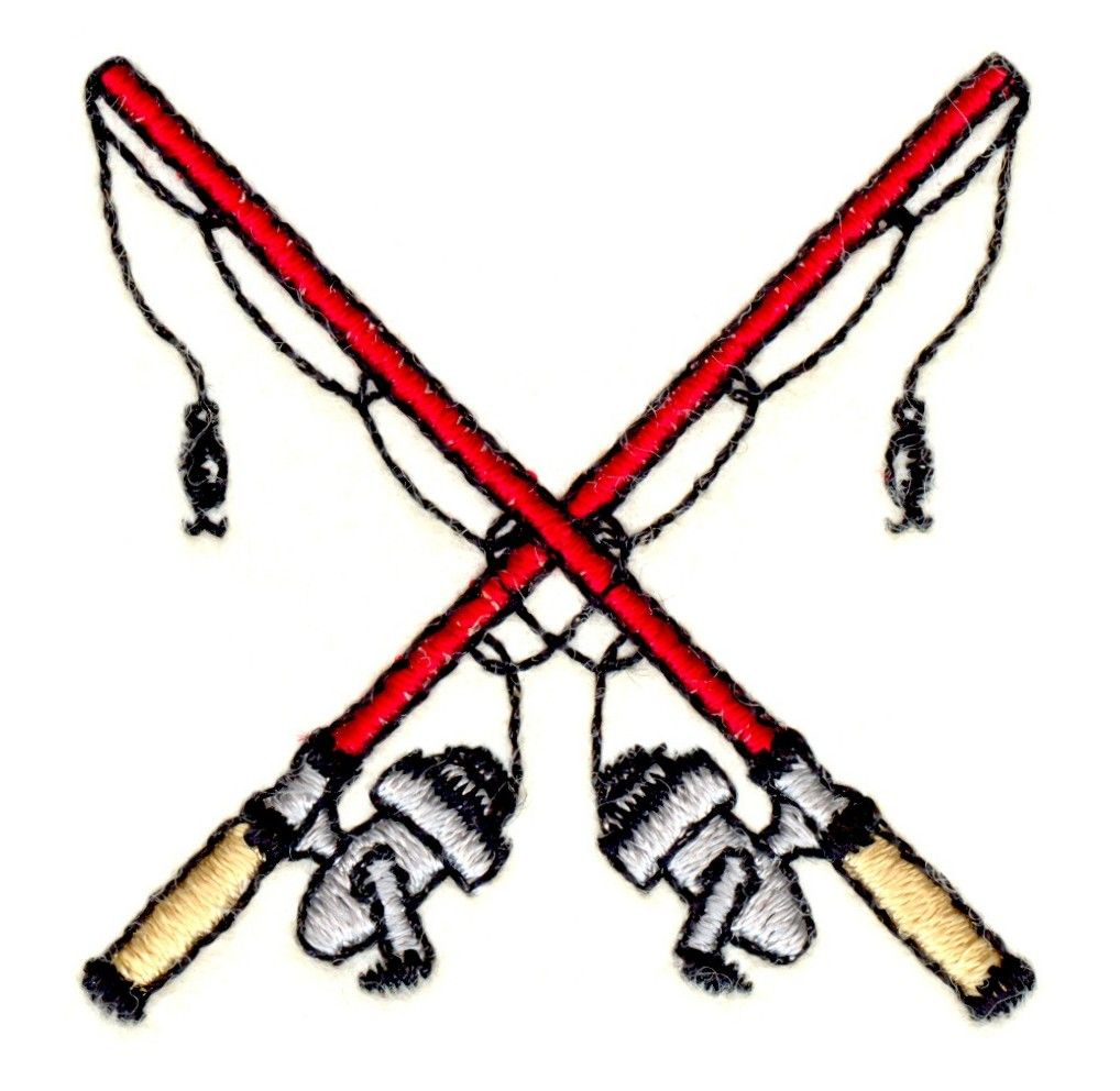 Crossed Fishing Poles Embroidery Design | Pinterest | Embroidery ...