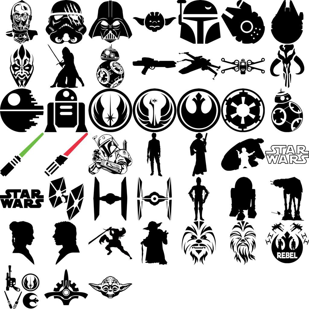 Star Wars SVG, Files For Silhouette, Files For Cricut, SVG