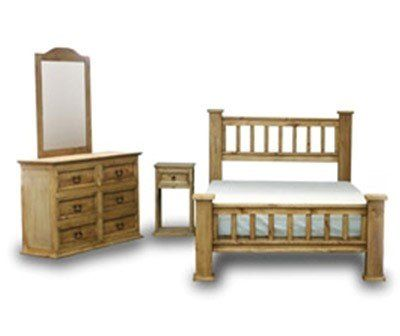 Factory Furniture Express King Rustic Mission Bedroom Set With Star Coole Mobel
