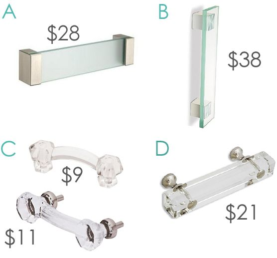 Clear Glass Pulls   Hardware For Cabinets