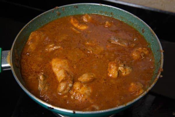 cooked chicken vindaloo vindaloo chicken vindaloo chicken vindaloo recipe on hebbar s kitchen chicken recipes id=95968