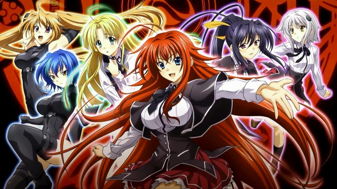 High School Dxd Girls Hd Wallpaper Hd Awsome Anime High School