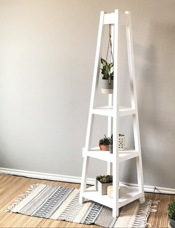 DIY Plant Stand   Madera, Muebles de madera y Herrería