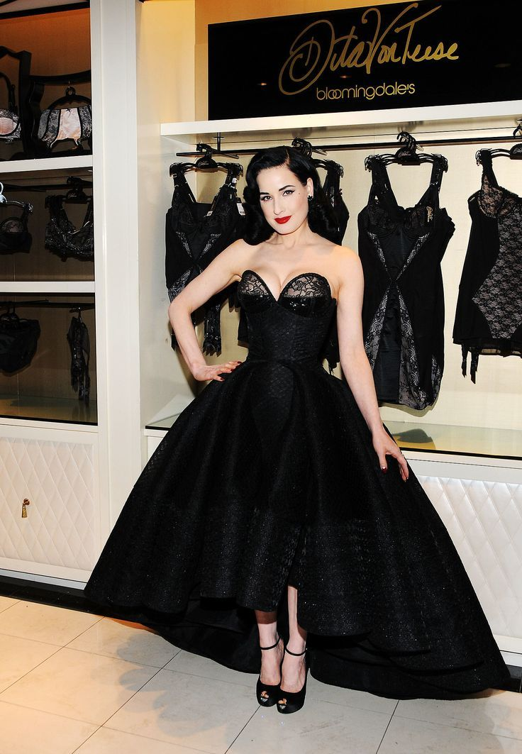 20c7dc043a34 Dita Von Teese in Zac Posen at the Dita Von Teese Lingerie Collection launch.  - lingerie