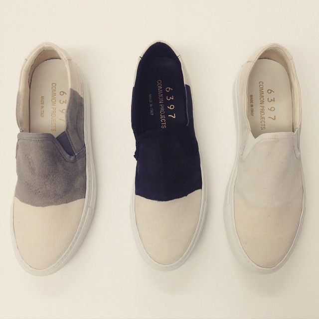 Crushing on these dip-dyed spring kicks from #commonprojects and #6397news.