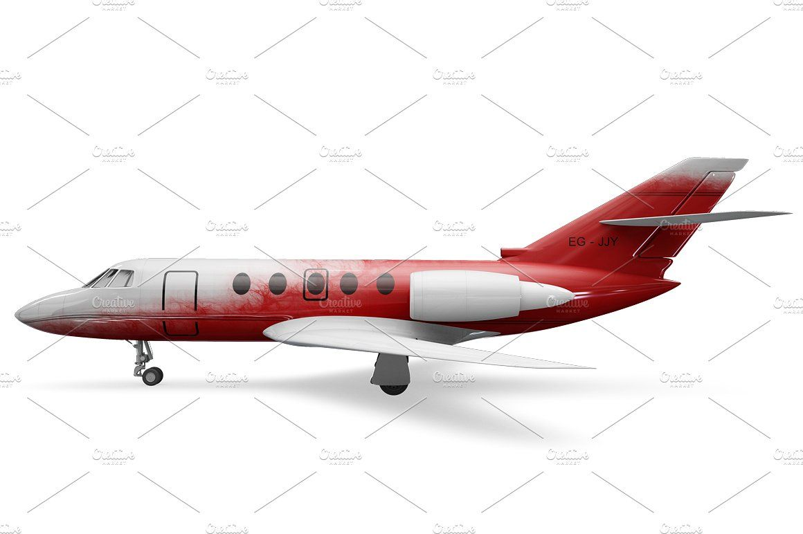 Jet Airplane Mockup Artwork Images Personal Presentation Mockup