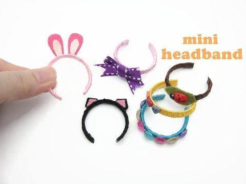 DIY Miniature Doll Mini Headband - Very Easy! - YouTube #dollaccessories
