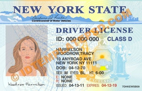 PSD Template u2013 Editable with Adobe PhotoshopThis is New York (USA - id card psd template