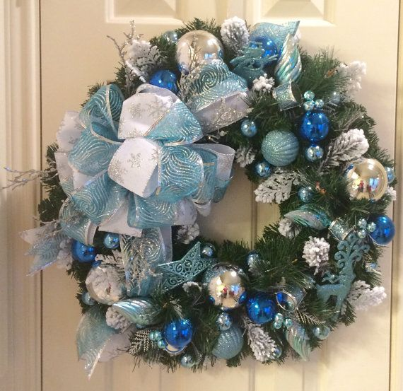 click on photo to purchase Blue/Silver Ornament Christmas Holiday