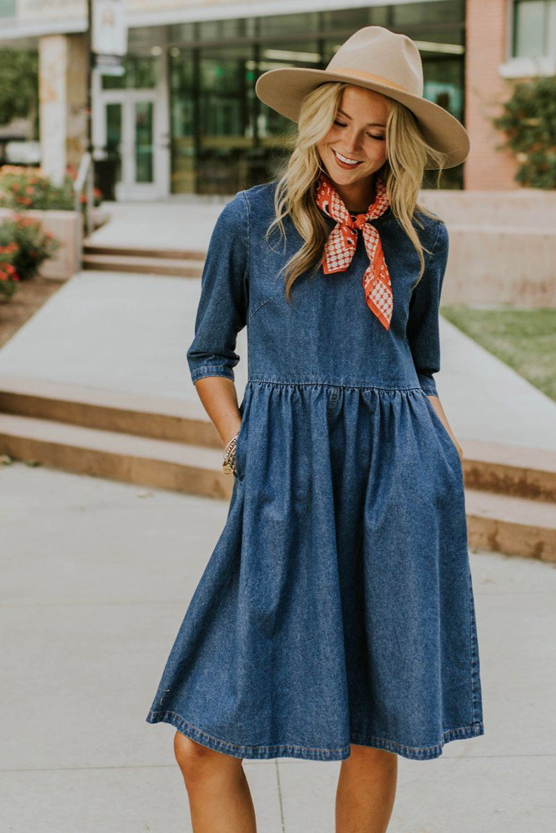 e60d8f45920 No wardrobe is complete without the Raleigh Denim Dress! This classic dress  takes the denim