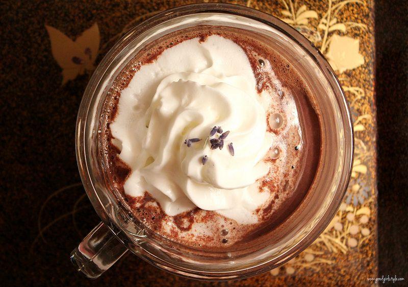 Lavender hot chocolate hot chocolate chocolate food
