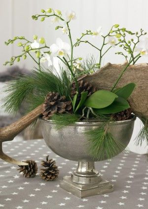 kerst stukje met orchideeën van greengate europe