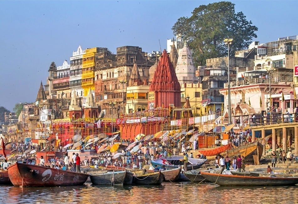 Ghats On The Banks Of Ganges River In Holy City Of Varanasi Top - Top 10 backpacking destinations in the world
