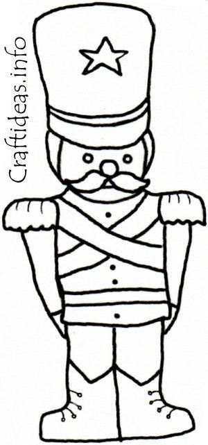 Nutcracker Coloring Sheets | Christmas Coloring Book Page ...