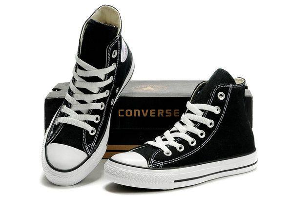 Converse Chuck Taylor All Star High Top Optical Black Canvas Shoes