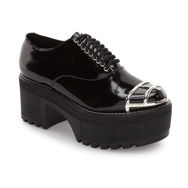 eee93e11506a Women s Jeffrey Campbell Worldz Platform Oxford ( 155) ❤ liked on Polyvore  featuring shoes