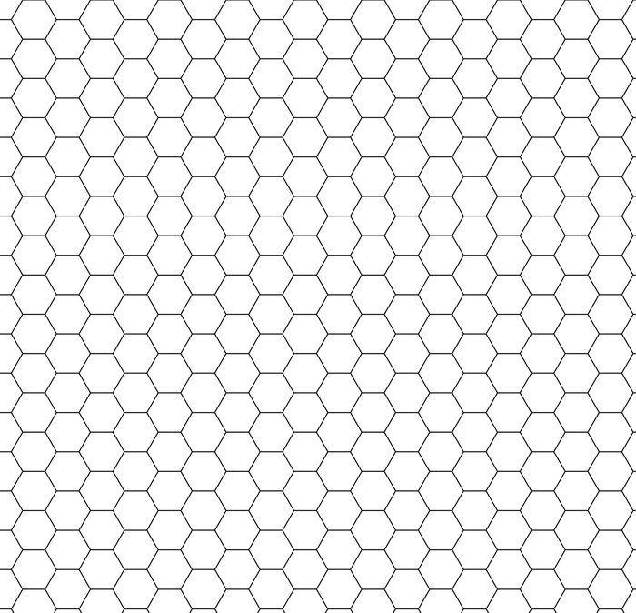 cfde6a27319 Behang Vector moderne naadloze geometrie patroon zeshoek, zwart en ...