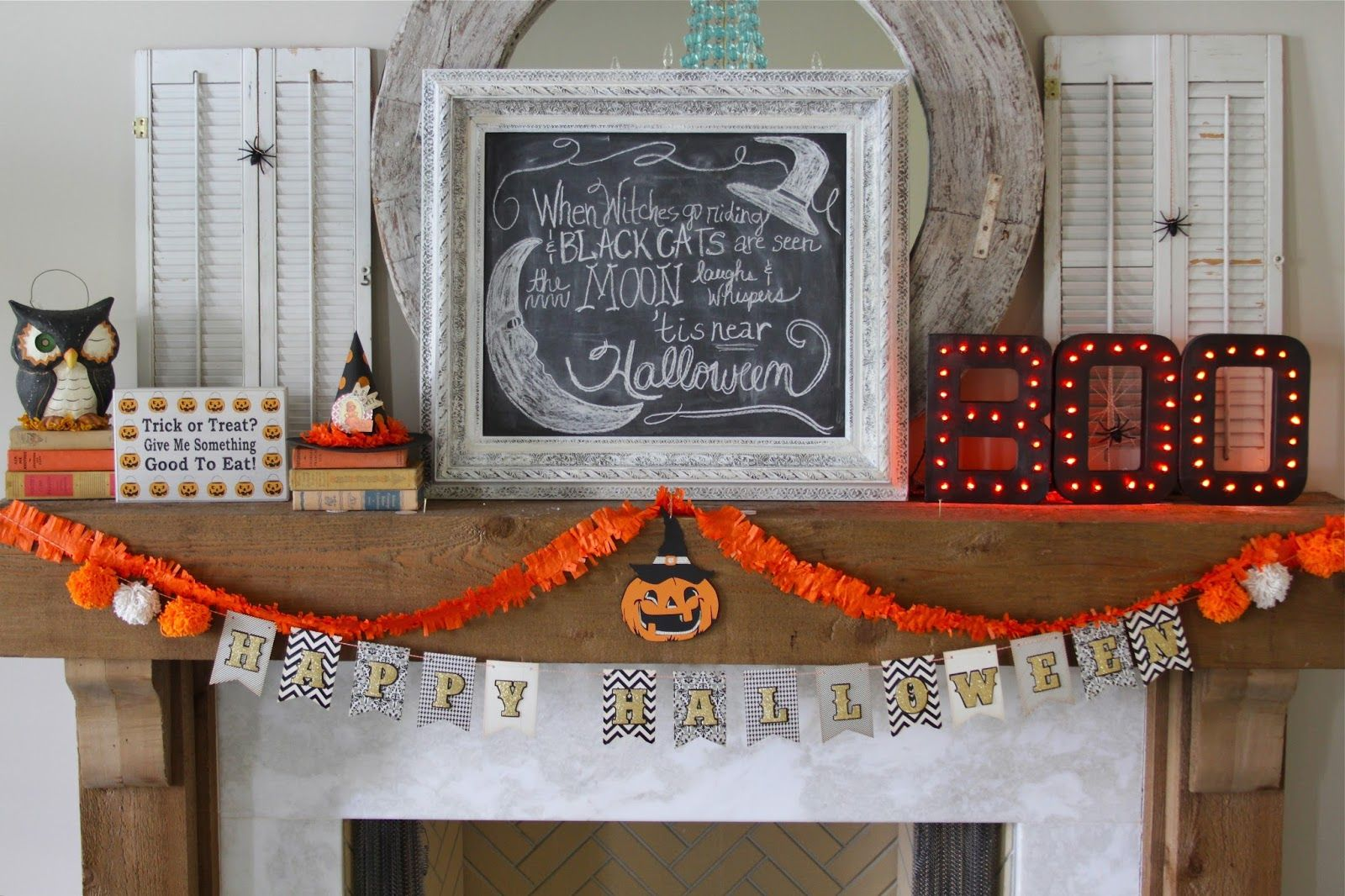 Nesting In The Bluegrass Light Up Boo Letters Boo Letters Halloween Fun Halloween Projects