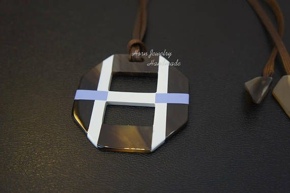 07701ef6b3 Hermes Opus inspiration horn and lacquer octogonal pendant | Hermes ...