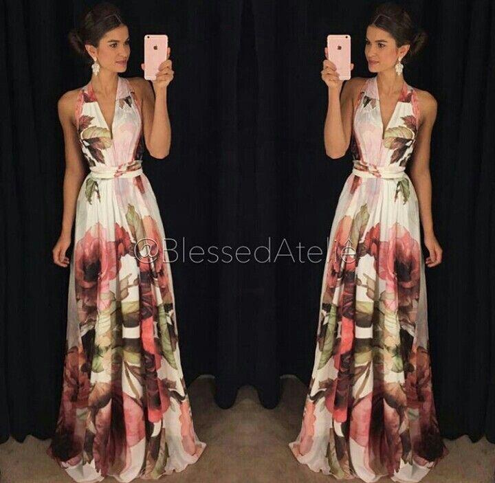 Pin De Kesmerly En Vestidos Vestidos De Fiesta Vestidos Largos Florales Vestidos Largos De Dia