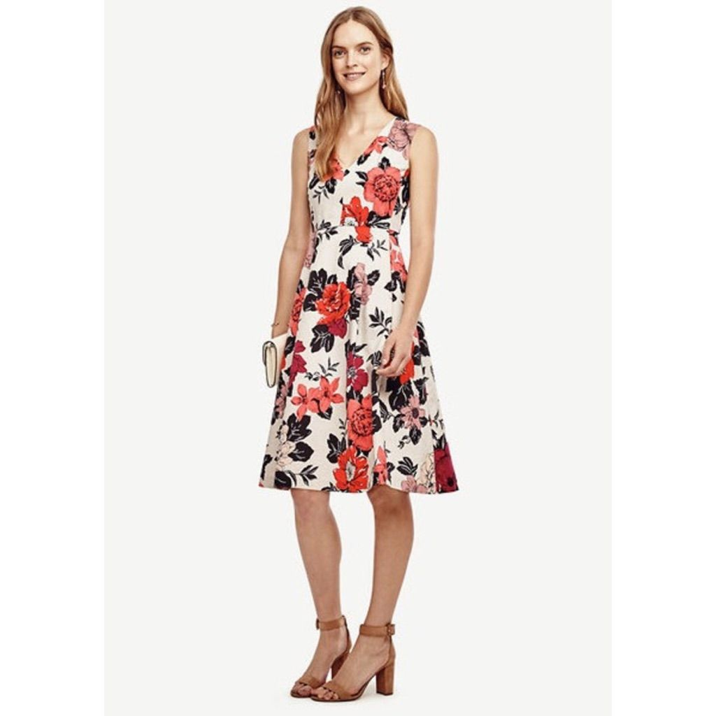 Ann Taylor Sundrenched Floral Flare Dress | Ann and Products