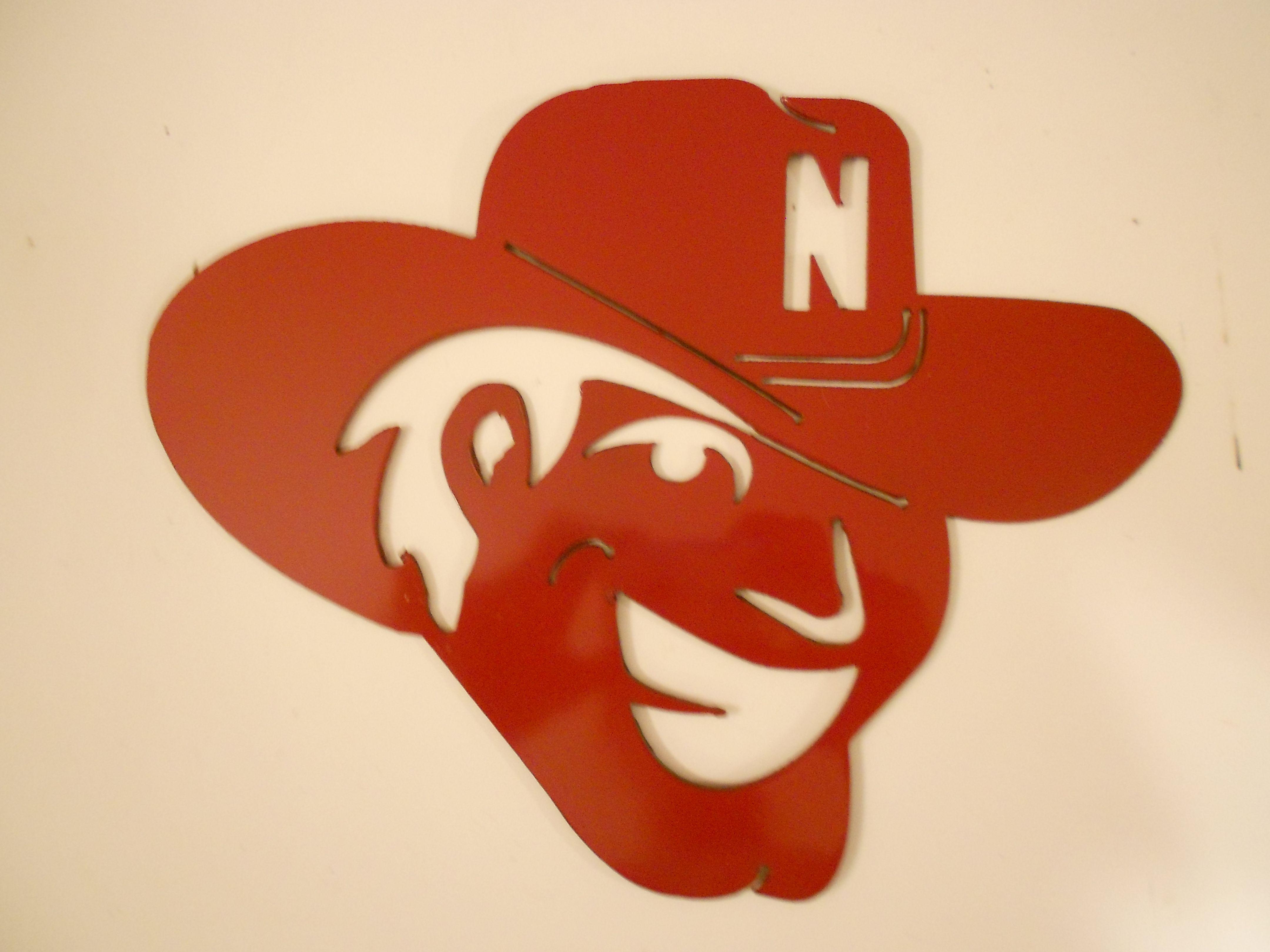 Nebraska Huskers Herbie Husker Metal Wall Art Crafts Metal Wall Art Husker