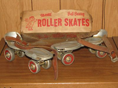 Ball Bearing Roller Skates - We used to skate in the basement and outside.  My sister broke her arm going down our steep basement steps.  :(