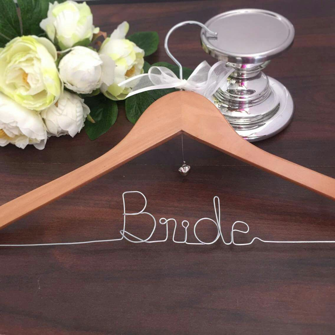 Bride Hanger Wedding Hanger For Gown Personalised Wedding Gift