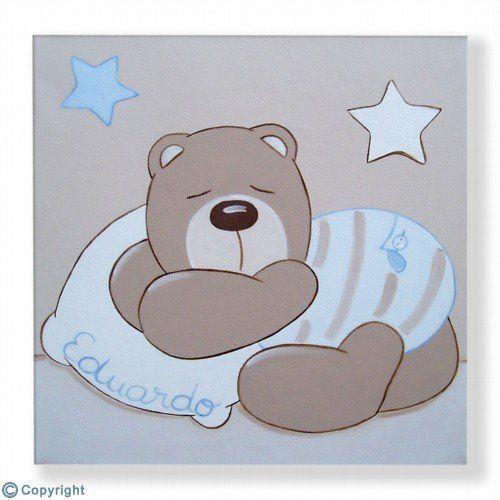 Cuadro infantil personalizado: Osito dormilón (ref. 19093-01 ...