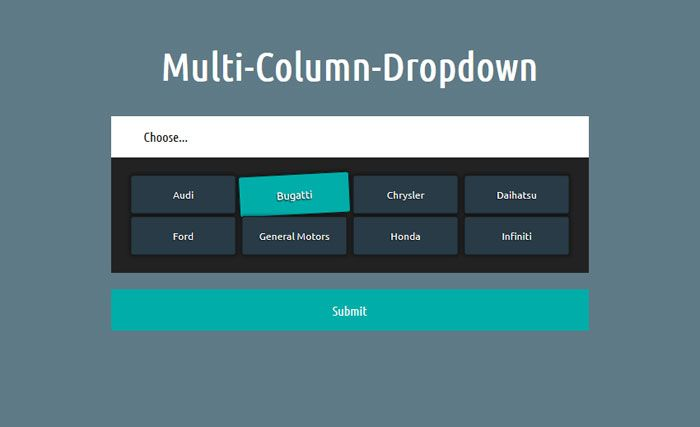 Jquery CSS Multi Column Select Box :: Simple plugin (3Kb) that will