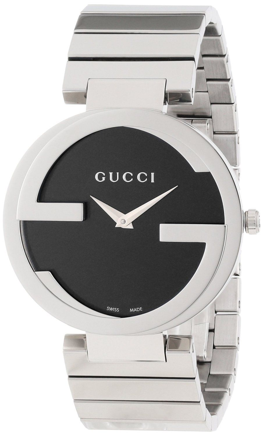 d43a5e801a5 Gucci Women s  YA133307 Interlocking Iconic Bezel Black Dial Watch ...