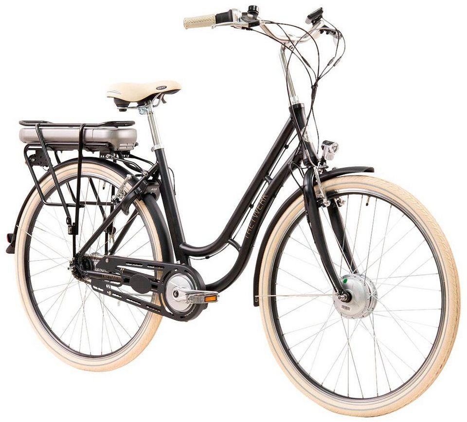Tretwerk E Bike City Damen Traveler 28 Zoll 7 Gang Frontmotor 418 Wh Online Kaufen