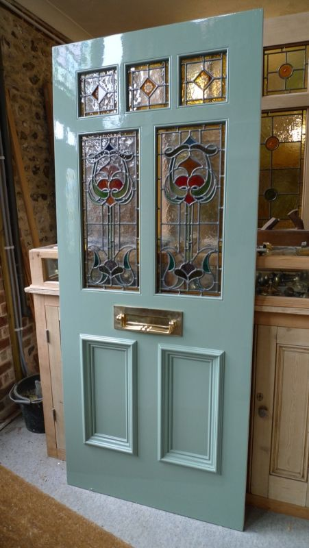 Art Nouveau Stained Glass Door Front Door Victorian Front Doors Glass Doors Interior House Front Door
