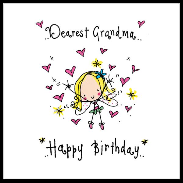 Dearest Grandma Happy Birthday Happy Birthday Square Card Happy