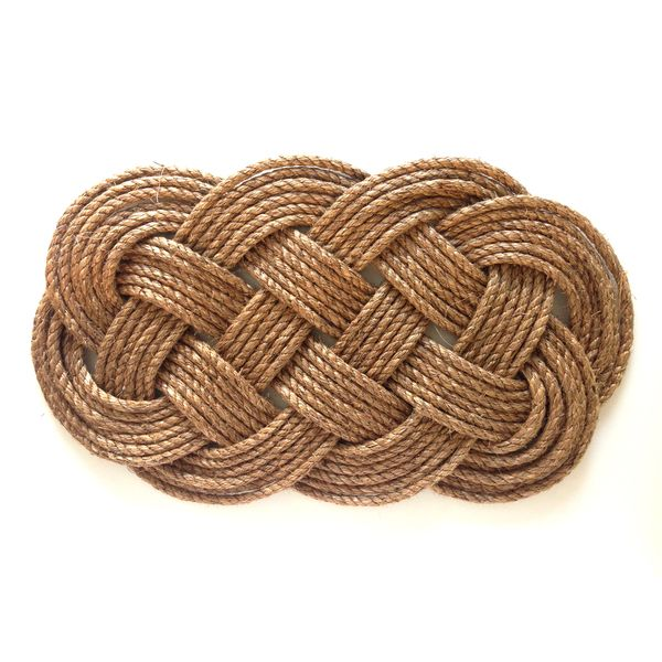 Ocean Plait Knotted Rope Mat - The Market