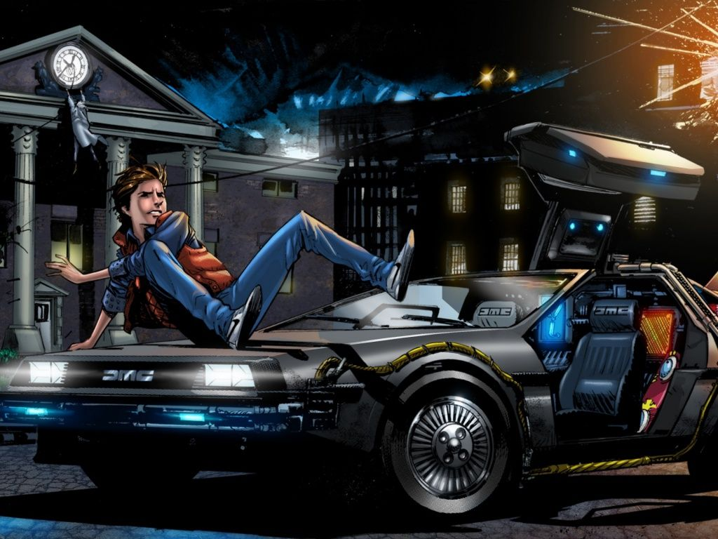 Back To The Future 4 Art Hd Desktop Wallpaper Back To The Future
