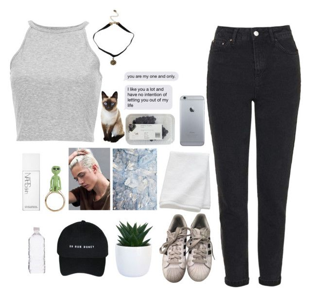 """""""✨I CAN'T REPLACE MY BLOOD✨"""" by im-just-a-girl-in-love ❤ liked on Polyvore featuring Topshop, adidas, CB2 and NARS Cosmetics"""