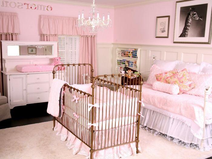 babyzimmer dekoration rosa zimmer für das baby mädchen gestalten ... | {Babyzimmer dekoration 59}