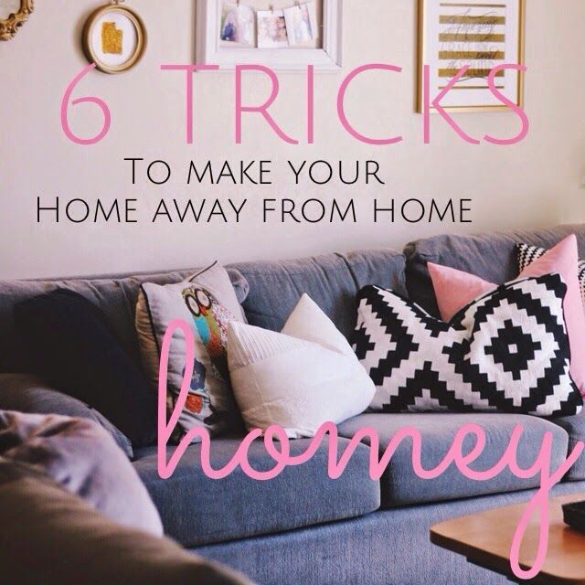 Decorating an apartment or dorm room like home!