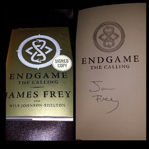 "Signed ""Endgame by James Frey"""
