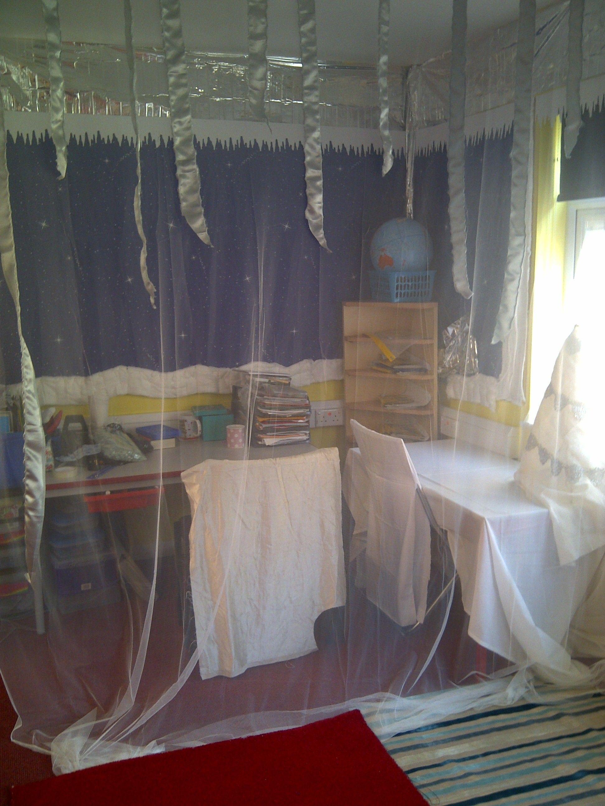 Classroom Decor Travel ~ Narnia ice palace school displays pinterest