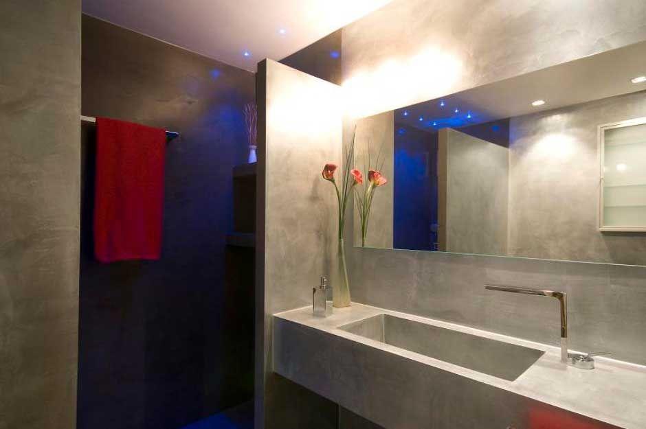 Bagno Microcemento ~ Bagno in microcemento con lavabo cementizio bathroom pinterest