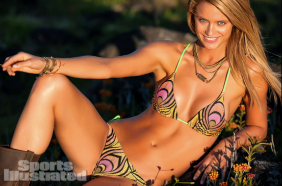 c6ac0b74e7325 Kate Bock wears Heather Gardner Triple Layer Boho Necklace in Sports  Illustrated Swimsuit 2013