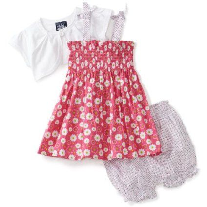 Girls 2T Pink// White Stripped Short Sleeve Animal// Floral Dress Little Bitty