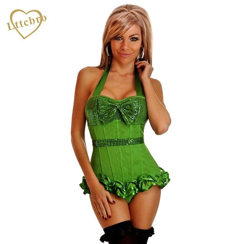 9e9defe4d6 Mesh Corset Nightwear Sexy Lingerie Lace Push Up Bustier Corset Women Night  Underwear with G-string Pink
