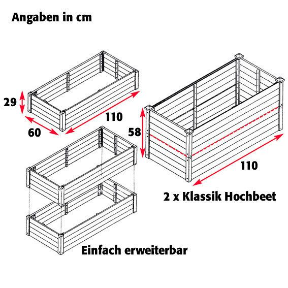 Hochbeet Klassik Rechteckig Stapelbar Akazie 3 Garten Und