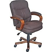 La Z Boy Faye Fabric Manager Chair Chocolate Staples Comfy Office Chair Chair Floor Protectors For Chairs Laz y boy office chair