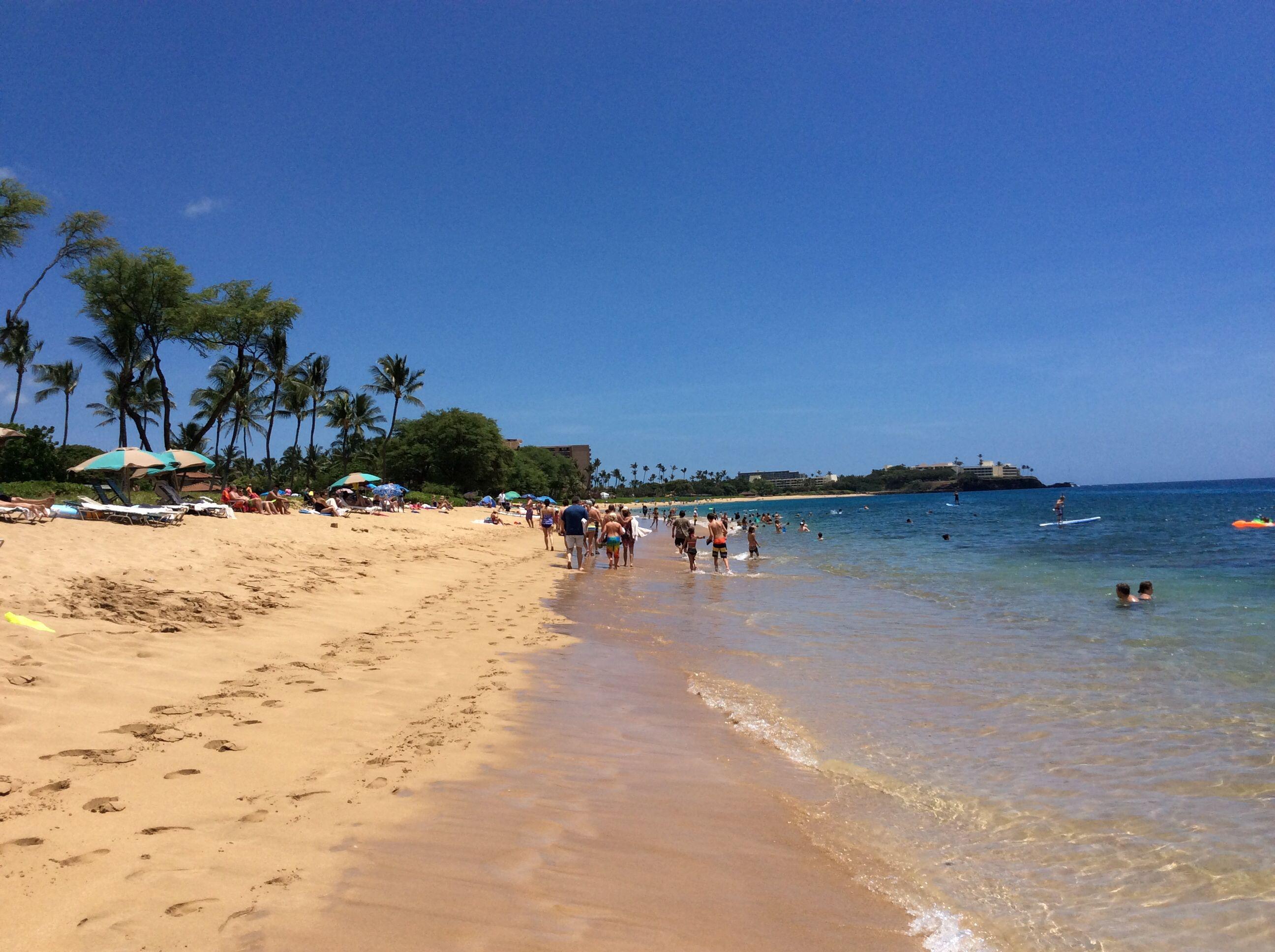North Kaanapali Beach Looking South To Black Rock Maui Hawaii July 2017